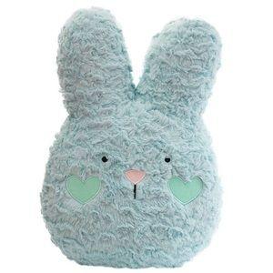 Blue Easter Bunny plush pillow